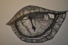 Drachenauge Schwarz Weiß