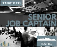 URGENT NEED! We are looking for a Senior Job Captain to join the Seattle offices of a well known international corporate interiors firm. Is it you?  Click the link to learn more about the job and for info on how to apply today: http://dbifirm.com/senior-job-captain-726/
