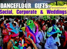 """Social, Corporate & Weddings by Fernando Salazar """" El ambiente que unifica el estilo con la fiesta""""... y tú ¿que estas esperando? Dancefloor Gifts , son los souvenirs mas pedidos en las bodas."""