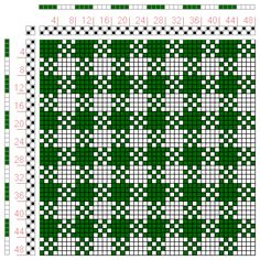 I'll use this chart for a reversible scarf--something basic and geometrical to practice with