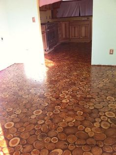 They Placed Wooden Discs All Around Their Old Floor… Soon? Incredible Makeover That WOWS! - Top Inspirations