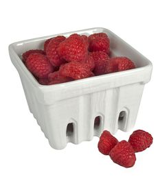 Take a look at this White Berry Basket - Set of Four today!