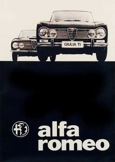 Giulia TI 1600 and Alfa Romeo 2600 Sprint ad 1963