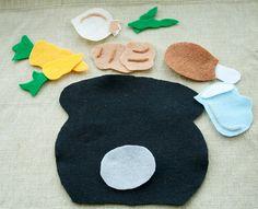 Stone Soup Felt Story for the Flannel Board Preschool Learning, Kindergarten Activities, Fun Learning, Felt Board Stories, Felt Stories, Everything Preschool, Book Baskets, Felt Boards, Stone Soup