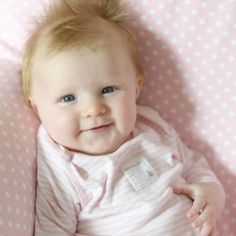 Baby Sadie loves pancakes, cuddles, smiles, and a whole lot of pink!