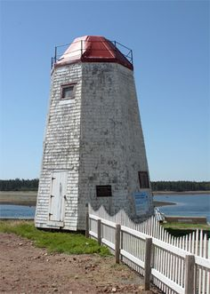 Andrews (Pendlebury) Light, Saint Andrews, New Brunswick, Canada (Oldest Standing Lighthouse in New Brunswick's Mainland) New Brunswick Canada, East Coast Travel, Atlantic Canada, Ocean Scenes, Beacon Of Light, St Andrews, Light Of The World, Prince Edward Island, Beautiful Waterfalls