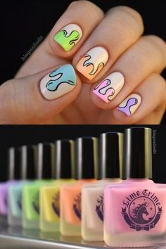 Dripping Nail Art repinned by #Inspirationail
