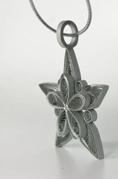 Quilled Snowflake Star Christmas Tree Ornament by loveinenvelope, $12.00