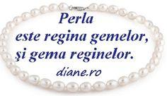 diane.ro: Perlele în simboluri, legende şi superstiţii Diane, Dog Tags, Dog Tag Necklace, Quotes, Jewelry, Gems, Pearl, Jewellery Making, Jewels