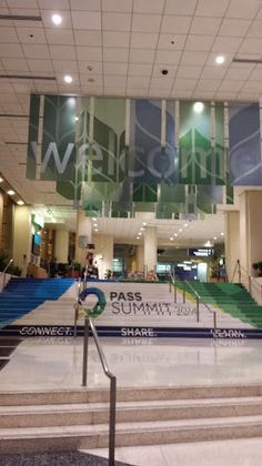Amazing custom stair clings for PASS Summit 2014 as you enter the WSCC!