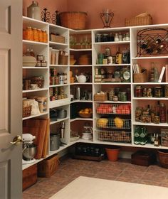 "Someday I'll have a walk-in pantry. Somehow I feel like this one is much ""healthier"" looking than mine..."
