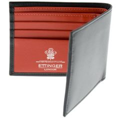 Ettinger Sterling Red Billfold Wallet