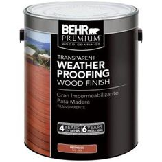 1-gal. #502 Redwood Transparent Weatherproofing Wood Finish