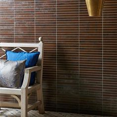 Glazed porcelain tiles with the beautiful patina of worn and rusted metals.