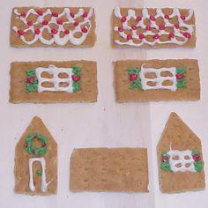 Tiny Christmas Craft: Graham Cracker Gingerbread House   Organized Christmas
