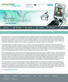 Media Content Website Templates by Lovely Mobile Website Template, Content, Templates, Stencils, Template, Western Food, Patterns