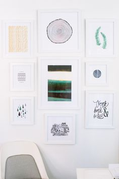 How to Create a Gallery Wall with Minted #curatedbyyou