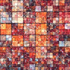Background Of Red Squares