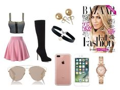 """""""Malibu"""" by summer0705 on Polyvore featuring Jimmy Choo, Christian Dior, Belkin, Majorica, Bling Jewelry and Michael Kors"""
