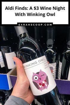 Aldi Finds: Have A $3 Wine Night With Winking Owl | Sarah Scoop