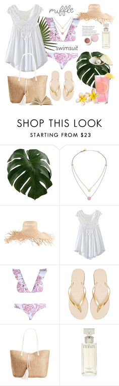 """""""Reading On Beach"""" by rever-de-paris ❤ liked on Polyvore featuring Michael Kors, Eugenia Kim, WithChic, Zimmermann, Havaianas, INC International Concepts, Calvin Klein and Korres"""