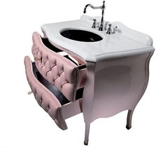 Cameo collection from Ypsilon: Opulent bathroom vanity with leather upholstering / http://www.decorshome.net/decorating/opulent-bathroom-vanities-with-genuine-leather-upholstering-design-25377.html