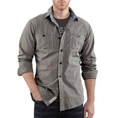 Carhartt Workwear, Carhartt Shirts, Ticking Stripe, Work Fashion, Work Wear, Outfit Work, Work Attire, Work Wardrobe, Workwear