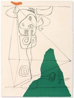 Le Corbusier. The best. KAGADATO selection. **************************************Le Corbusier; 'Taureau I' Lithograph, 1964.