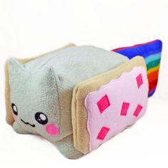Nyan Cat BIG Kawaii Plush Toy - Loaf Shape , Cube / Pillow / Cushion / Geekery Rainbow Pop Tart Kawaii