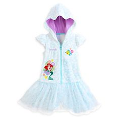 Disney Ariel Cover-Up for Girls - Personalizable | Disney StoreAriel Cover-Up for Girls - Personalizable - She'll look forward to diving into this Ariel Cover-Up for Girls. The Disney Princess and her fishy friend Flounder swim in an ocean of soft terry that will dry off your little mermaid after her adventures under the sea.