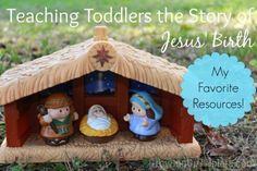 Teaching Toddlers the Story of Jesus' Birth - My Favorite Resources   www.GrowingUpTriplets.com #Christmas #toddlers #nativity