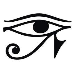 Eye of Horus.An Egyptian protection symbol. ___ This has always been one of my own totems. May need it permanent on me.