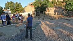 Visita al Parque Arqueologico del Crco Romano de Toledo con los NEDTS, el 12 de Julio de 2015. Su guía Jesus Gomez Merino explica detalladamente los pormenores de la antigua y y arqueológicas ruinas de 2000 años a nuestro grupo NEDTS.
