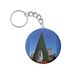SF Union Square Christmas Tree Keychain - christmas keychains family merry xmas personalize gift idea