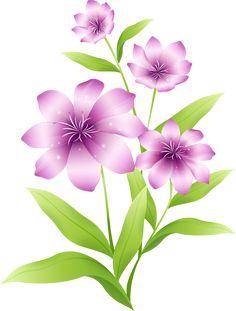 [Res] Light Purple Flowers PNG by HanaBell1.deviantart.com on @deviantART