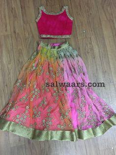Kids Party Wear Frocks, Kids Party Wear Dresses, Kids Dress Wear, Kids Gown, Little Girl Dresses, Cute Dresses, Kids Lehenga, Net Lehenga, Baby Girl Birthday Dress