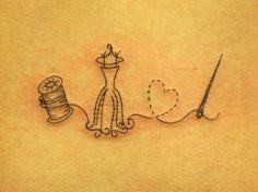 delicate spool dressform heart needle thread. Cute. by shmessa
