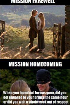 The Princess Bride - Mormon Memes Funny Church Memes, Funny Mormon Memes, Lds Memes, Church Humor, Saints Memes, Later Day Saints, Cinema, Lds Church, The Funny