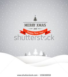 Christmas retro greeting card and background by Marish, via Shutterstock