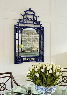 Interior HomeScapes offers the Pagoda Blue Mirror by Mirror Image Home. Visit our online store to order your Mirror Image Home products today. Chinese Tea Room, Asian Inspired Decor, Chinoiserie Chic, Dream Wall, Blue Mirrors, Mirror Image, Mirror Mirror, Interior S, Interior Design