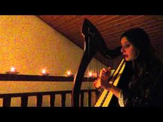 """""""Candle: Coventry Carol"""" by Tori Amos - Celtic Harp&Voice Cover"""