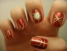 12 + Easy Iron Man Inspired Nail Art Designs, Ideas, Trends & Stickers 2014