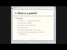 Basics of Canadian patent law (November 11, 2013)