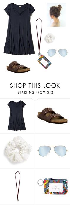 """Going shopping tomorrow!!"" by freebirdy ❤ liked on Polyvore featuring Hollister Co., Birkenstock, Topshop, Ray-Ban and Vera Bradley"