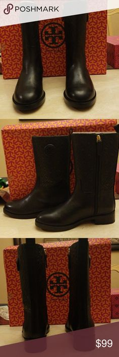 Tory Burch Boots Tory Burch Marion Bootie  Black Boots Tory Burch Shoes Combat & Moto Boots