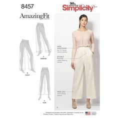 Simplicity Pattern 8457 Misses'/Women's Amazing Fit Trousers
