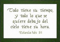 Tiempo Eclesiastes 3:1 - Cross Stitch