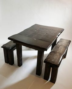 Rustic elegance defines this set. Built for this table is designed for an imperfect, natural look. Handcrafted from solid wood, the unique live edges gives this set a personality of its own. Rustic Elegance, Solid Wood, Im Not Perfect, Personality, Stool, Elegant, Live, Natural, Unique