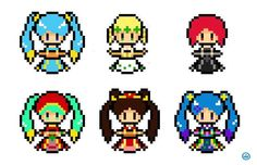 League of Legends - Sona all skin Pixelated, More information at https://www.facebook.com/mountaindwg