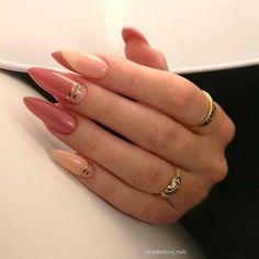 Hot Nails, Pink Nails, Hair And Nails, Almond Acrylic Nails, Fall Acrylic Nails, Almond Nails Designs, Nail Designs, Oval Nails, Minimalist Nails